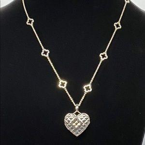 COPY - 925 Heidi Klum Quilted Heart & ☘️ Locket N…